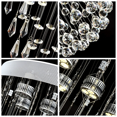 5-Light Finely Faceted Crystal Droplets and Spheres Long 35.4