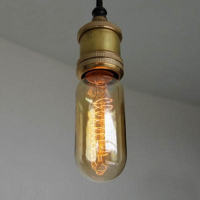 Bare Bulb LED Mini Pendant Light Edison Bulb Socket with Single Light