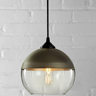 Champagne Socket Bowl Shade Colored Industrial Pendant
