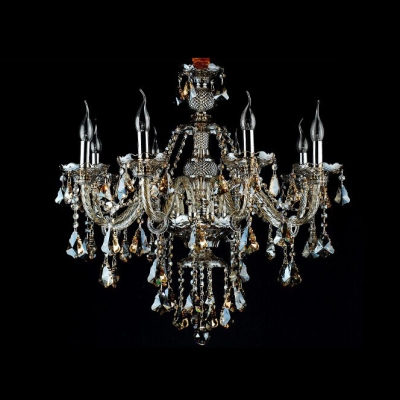 Classic and elegant 8 light warm amber crystal chandelier shine with classic and elegant 8 light warm amber crystal chandelier shine with brilliant crystals aloadofball Gallery