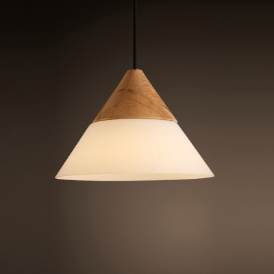 Frosted glass cone shaded elegantly designer wood mini pendant light frosted glass cone shaded elegantly designer wood mini pendant light aloadofball Choice Image