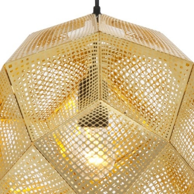 Etched Pendant Light Gold/Silver