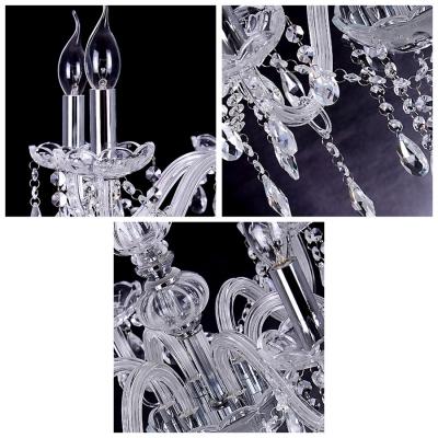 Hanging Crystal Droplets Clear Crystal Frame 21.6