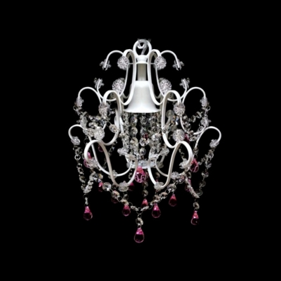 Intricately Accented and Masterfully Designed Chandelier Features White Finish and Gracefully Sculpted Arms