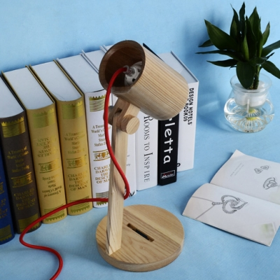 Lovely And Chic Cylinder Shade Brilliant Wooden Designer Table Lamp