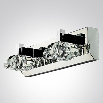 Shimmering Steel Enhances Sparkling Shade in Exquisite Crystal Wall Sconce