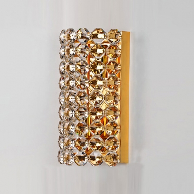 Splendid Two-light Wall Sconce Adorned with Hand-cut Crystal Offers Dainty Appeal