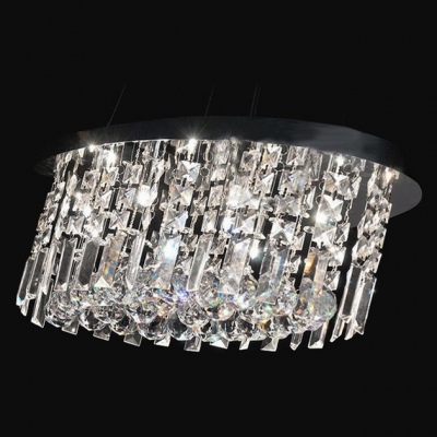 Clear Hand-cut Crystal Gives Contemporary Pendant Light Sophisticated Look Full of Shine