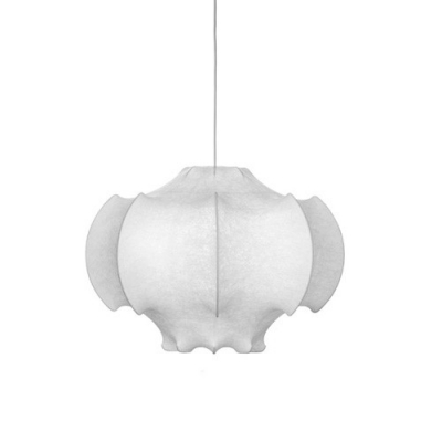 Designer Lighting Silk Made White Colored Pendant
