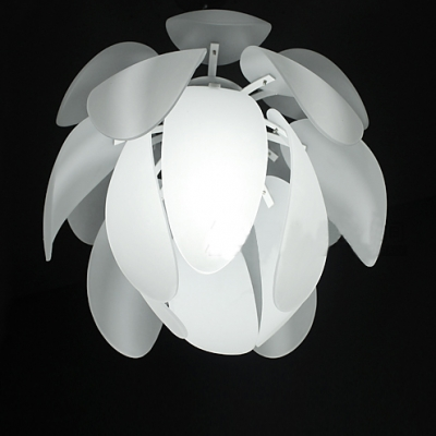 Designer Pendant Lighting with White Leaves Covering Shade