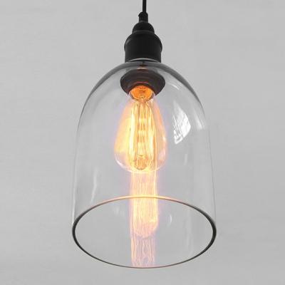 Dome Shape Clear Glass LOFT Mini Pendant Light