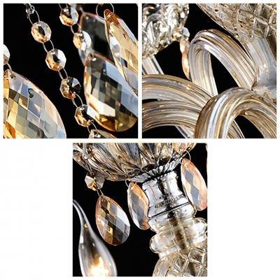 Elegantly Handcut Champagne Crystal Drops 18