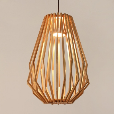 Exquisite Wooden Basket Design Modern Large Designer Pendant Light