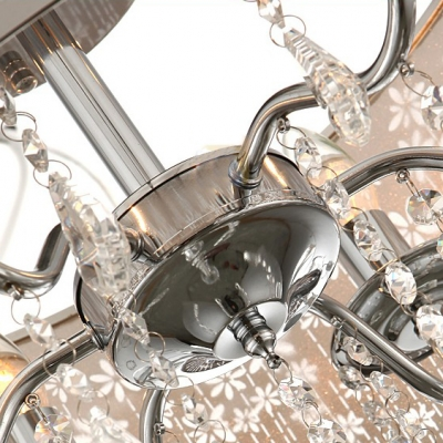 Functional and Beautiful Swirling Cutout Motif Metal Dum Shade Flush Mount Ceiling Light