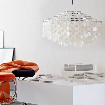 Medium Sea-shell Shaded Pendant Light
