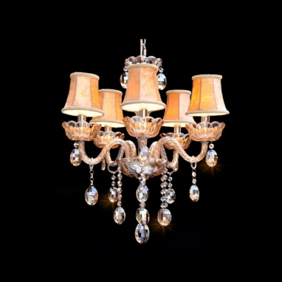 Shine Plenty of Sparkle Champagne Crystal Chandelier Light for Bedroom