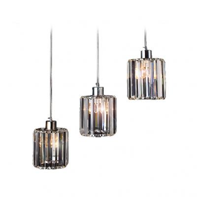 Sparkling Clear Crystal Three Lights Dining Room Mini Pendent Lighting Fixture
