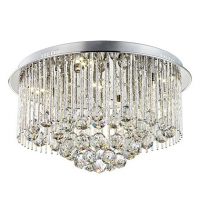 Splendid Design Chrome Finished Canopy and Clear Crystal Balls Accents 19.6