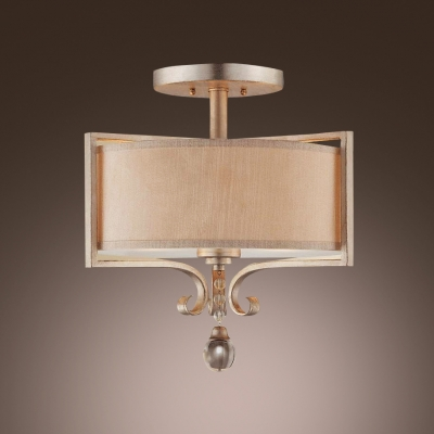 Wonderful Ceiling Light Features Graceful Frame Hanging Crystal Droplet Add Classic Romantic Touch
