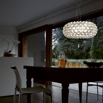 Acrylic Ball Clear Transparent Pendant Light