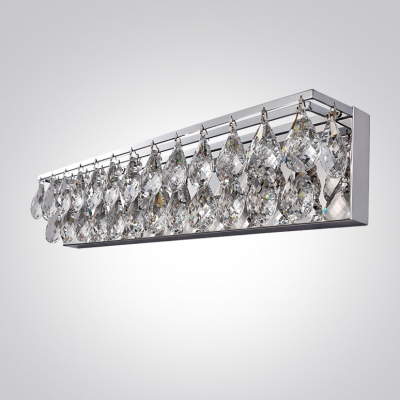 Accentuate Your Sophisticated Bathroom Decor with Brilliant Two Light Crystal String Bathroom Fixture