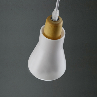 Bulb Style Smoke/White Industry Mini Glass Pendant