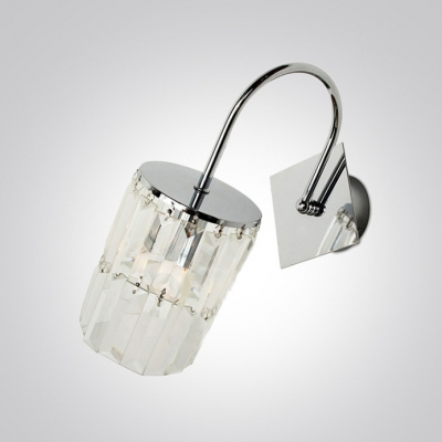 Catch Lavish and Chic Style with Crystal Shade Single Light Wall Scocne