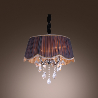 Fashion style chandeliers pendants mini pendants crystal lights contouring trim sheer pleated purple shade contemporary crystal chandelier aloadofball Images