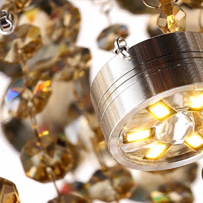Crystal Prisms Shade Large Pendant Light Shine with Brilliant Cluster of Crystal Balls