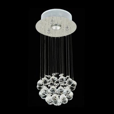 Crystal Shower Chandelier Suspended Cluster of Stunning Crystal Balls