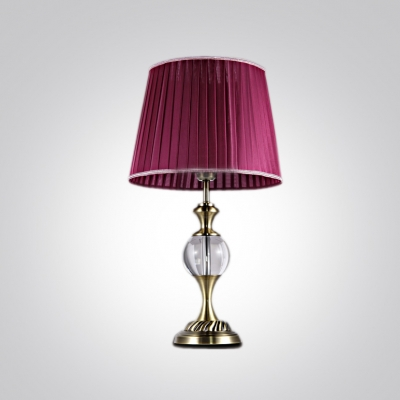 Distinctive Pleated Fabric Shade Add Charm to Amazing Table Lamp