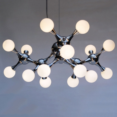 Modern DNA Chrome Pendant Light 15-light