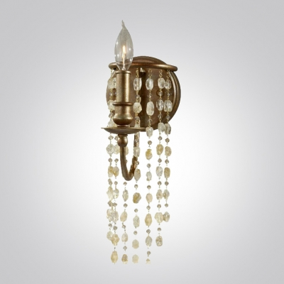 Vintage Inspired Antique Brass Finish Adds Touch of Elegant Distinction to Crystal Wall Sconce