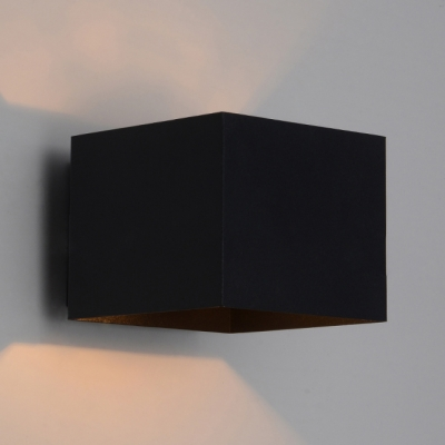 "5.1""Wide Lovely and Elegant Wrought Iron Designer Cube Wall Light"