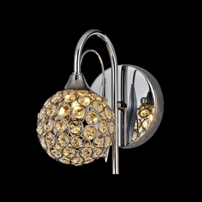 Add Gleaming Sparkle to Your Home with Globe Design Crystal Wall Sconce