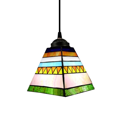 Colorful Mini Pendant Light Highlights Wolf Tooth in Pyramid Shape