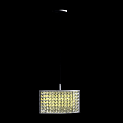 Contemporary Extraordinary Pendant Light Composed ofl Polished Chrome Finish Adorned with Sparkling Crystals