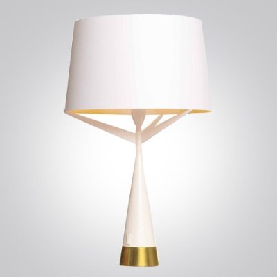 """Fabric Shade Bold Design Table Lamp 9.4""""Wide ..."""