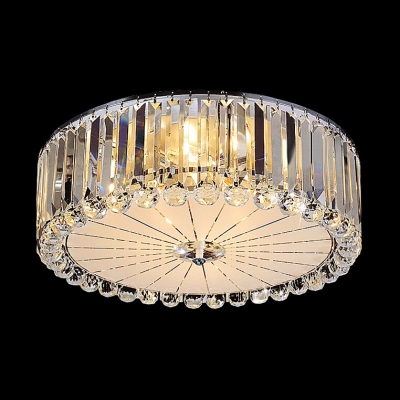Functional and Beautiful Crystal Prisms Falling Round Flush Mount Lighting