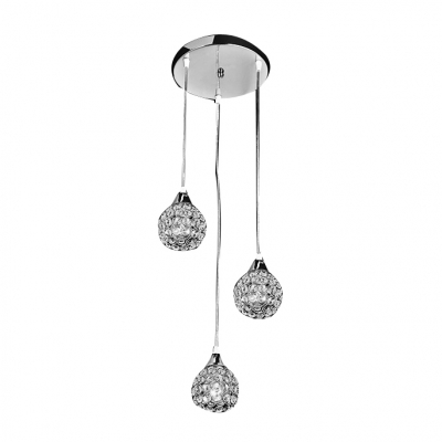 Glistening and Delicate Three Lights Crystal Beaded Shades Modern Multi-light Pendants HL298584 фото