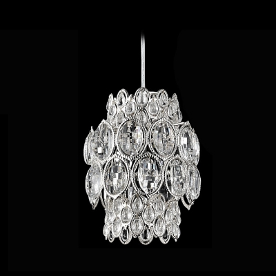 Glittering Large Crystal Beads Chrome Finished Contemporary and Bold Mini Pendant Light