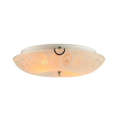 Gorgeous Flush Mount Ceiling Light Adorned with Delicate Glass Shade and Transparent Crystal Ball