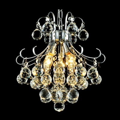 Hanging Dizzying Clear Crystal Spheres Brilliant 15.7