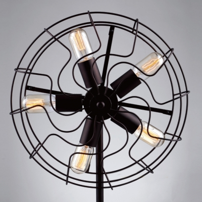 Industrial Whimsical Designed Iron Fan LED Table Lamp