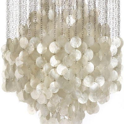 Large Sea-shell Shaded Long Pendant Light