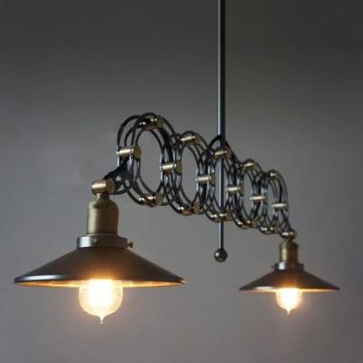 ... Antique Black Gold Jade 2 Light LED Pendant with Metal Shade ... & Antique Black Gold Jade 2 Light LED Pendant with Metal Shade ...