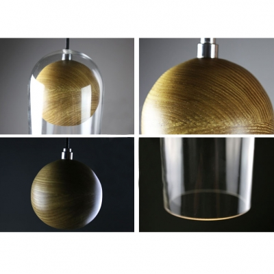Long Shape Clear Glass Mini Pendant Light