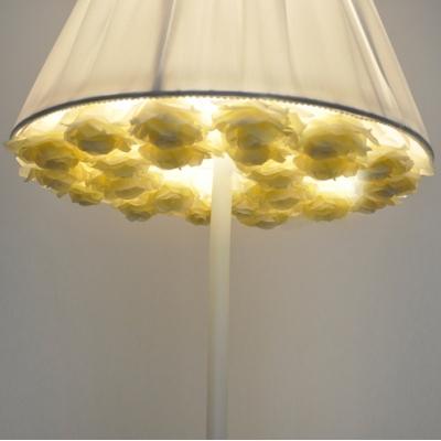 Romantic And White Fabric Umbrella Shaped Designer Floor Lamp 66.9 ...