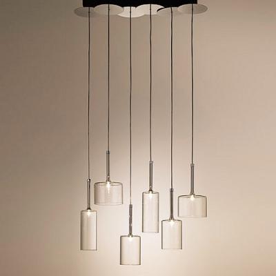 Six Lights Wonderful and Stunning Glass Designer Multi-Light Pendant Light