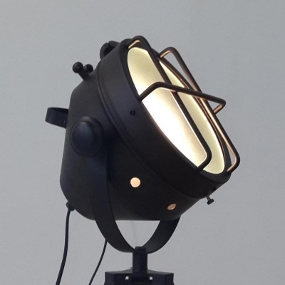 Elegant Tripod Black LED Floor Lamp